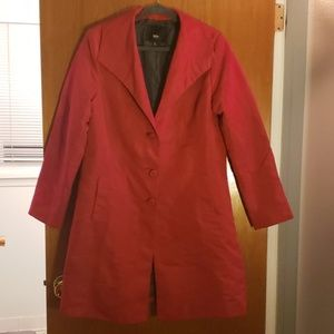 Red mossimo trench coat